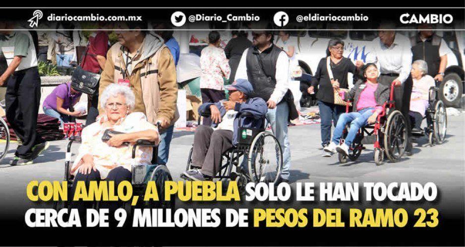 Con AMLO, a Puebla sólo le han tocado cerca de 9 millones de pesos del Ramo 23