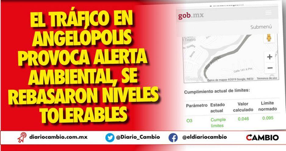 El tráfico en Angelópolis provoca alerta ambiental, se rebasaron niveles tolerables