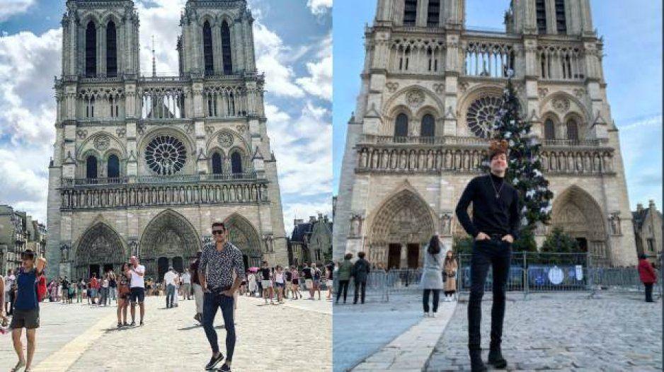 Poblanos, artistas y viajeros se suben al tren de #NotreDame: aprovechan tragedia para presumir selfies en la catedral