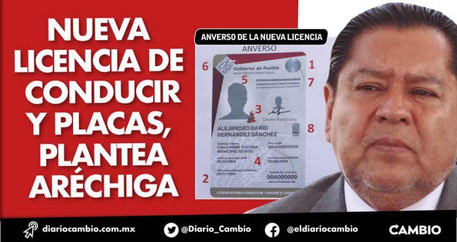 Nueva licencia de conducir y placas, plantea Aréchiga