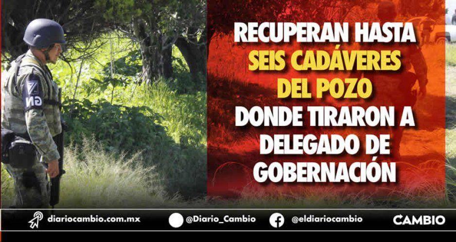 Ya van seis cadáveres rescatados en el pozo donde enterraron al delegado asesinado de la SGG