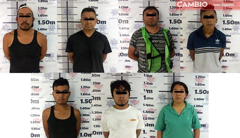 En menos de una semana detienen a ocho y recuperan dos vehículos robados en Cuautlancingo (FOTO)