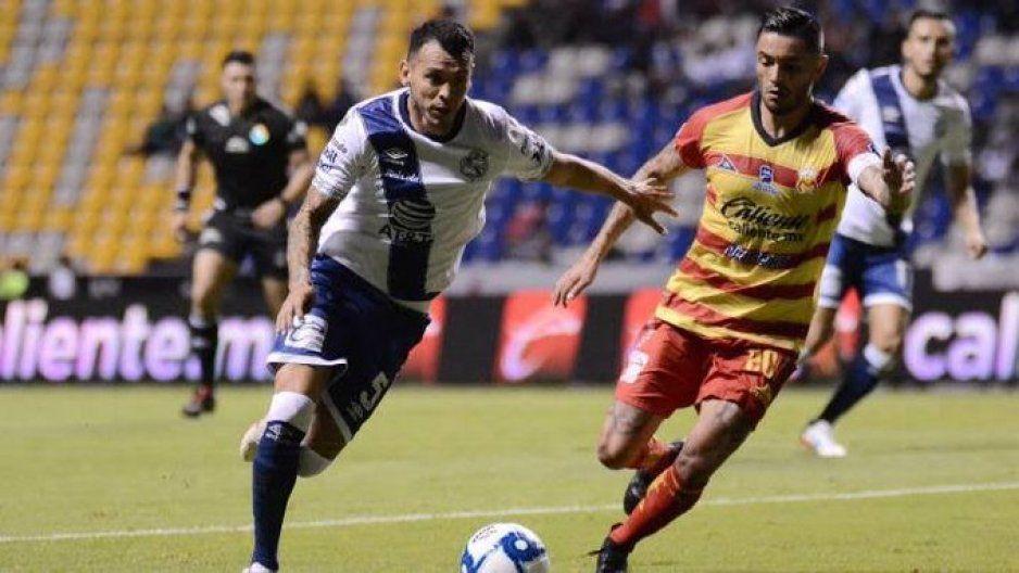 El Puebla no se deja, al medio tiempo iguala 1-1 contra Monarcas