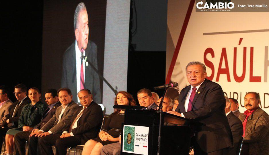 Saúl Huerta presenta primer informe legislativo, destaca pelea por el presupuesto para Puebla