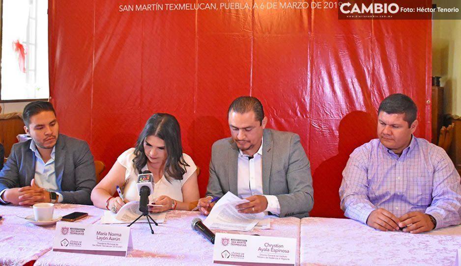 Firman convenio ediles de la región de Texmelucan en apoyo a migrantes