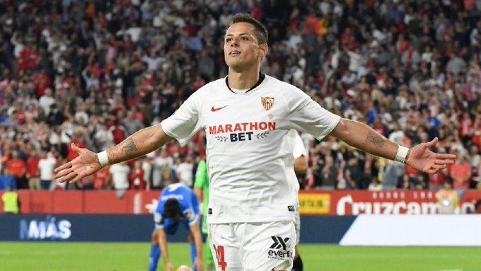 ¡Muy bien Chicharito! anota su primer gol en La Liga con el Sevilla (VIDEO)