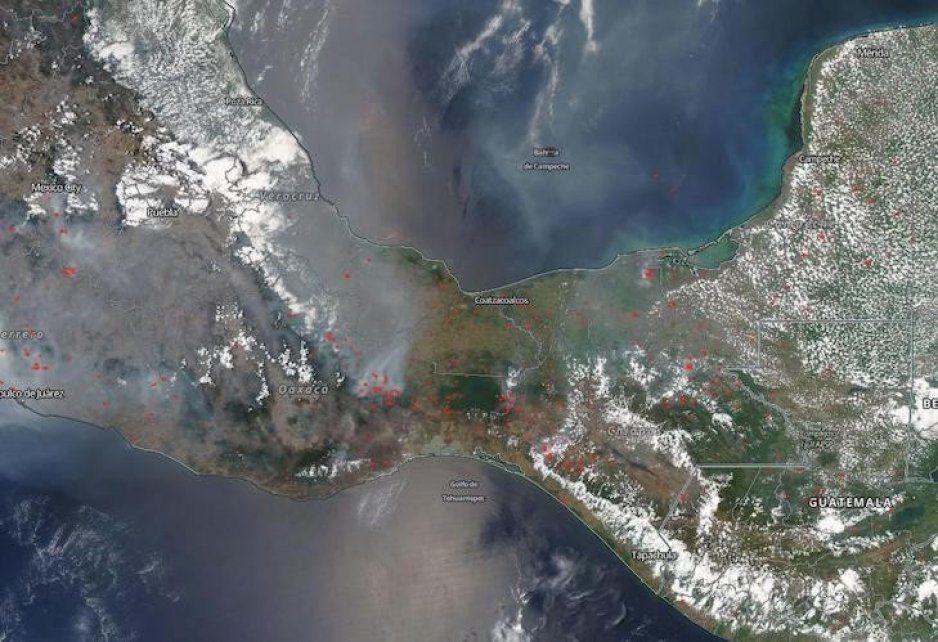 Así se ve la contaminación en Puebla desde el espacio