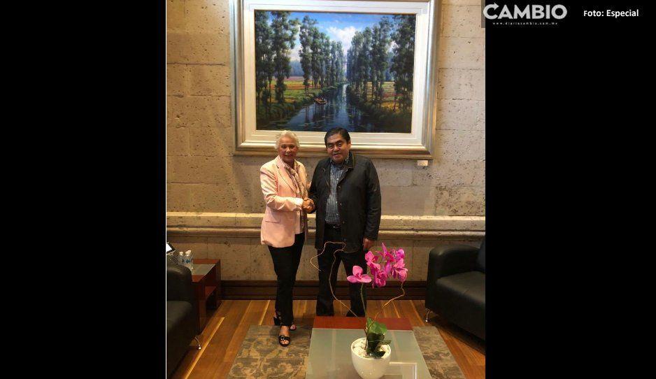Barbosa se reúne con Olga Sánchez en la Segob, tocan temas prioritarios para Puebla