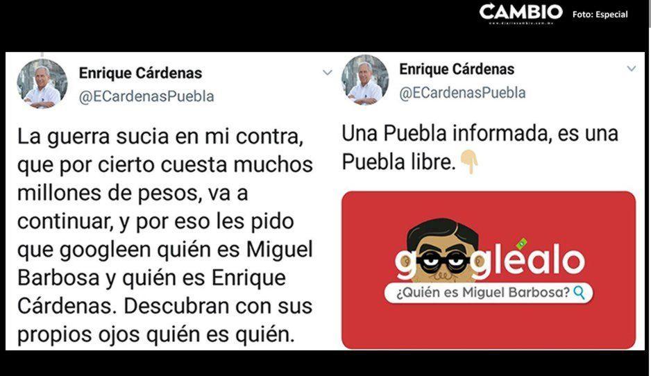 Cárdenas acusa a Barbosa de orquestar una guerra sucia en su contra; pide a los poblanos investigarlo