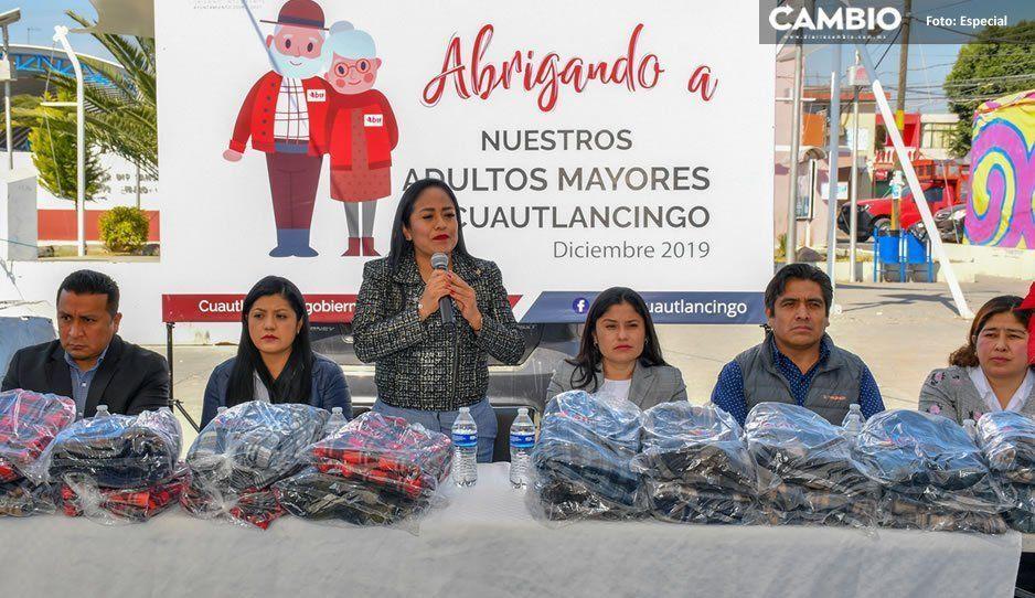 Arranca Ayuntamiento de Cuautlancingo el programa Abrigando a Nuestros Adultos Mayores