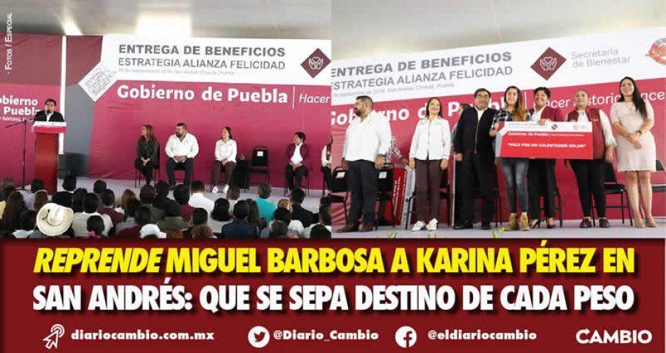Barbosa regaña a Karina Pérez y le exige transparencia en el presupuesto