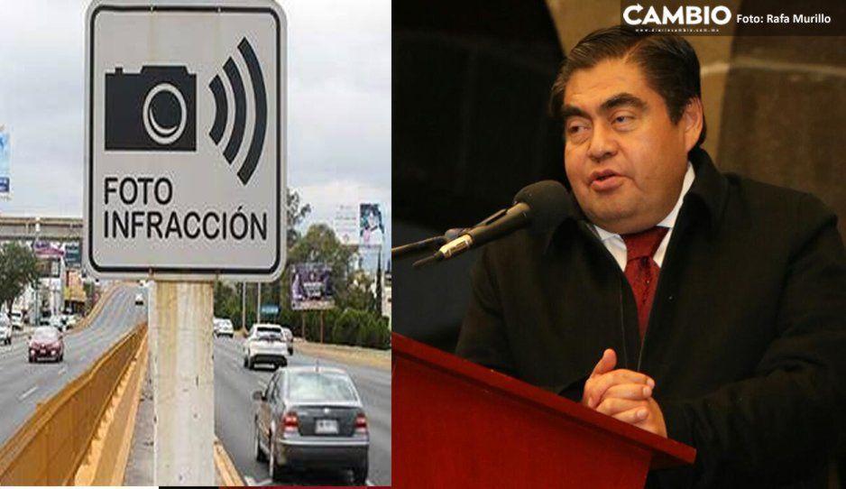 Autos robados serán detectados por cámaras de fotomultas: Barbosa