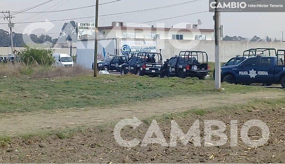 Policía Federal catea Global Gas por nexos con el huachicol en Xoxtla