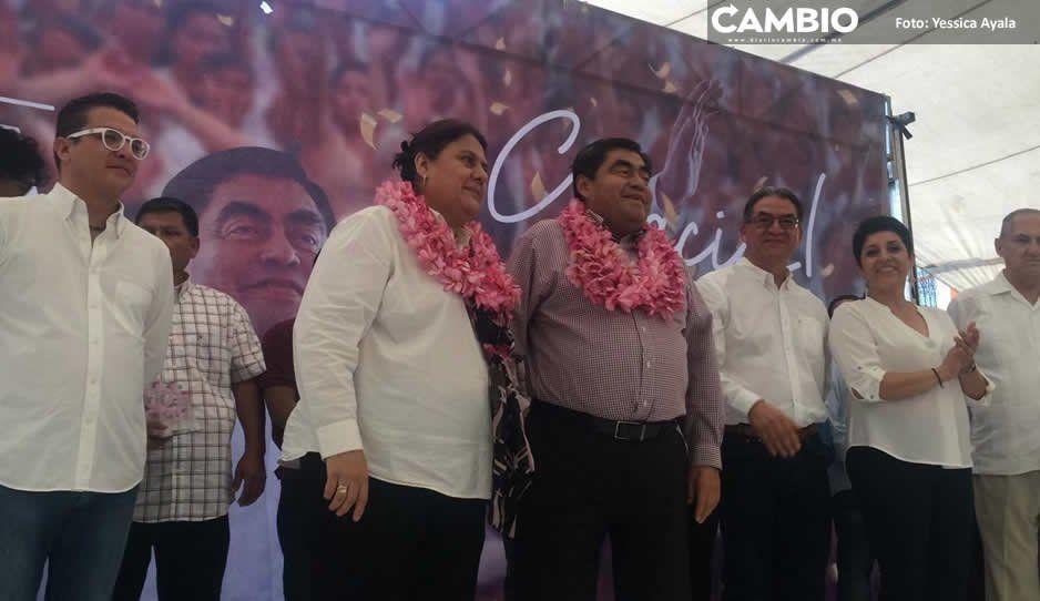 Barbosa agradece apoyo de votantes en Izúcar de Matamoros y Atlixco