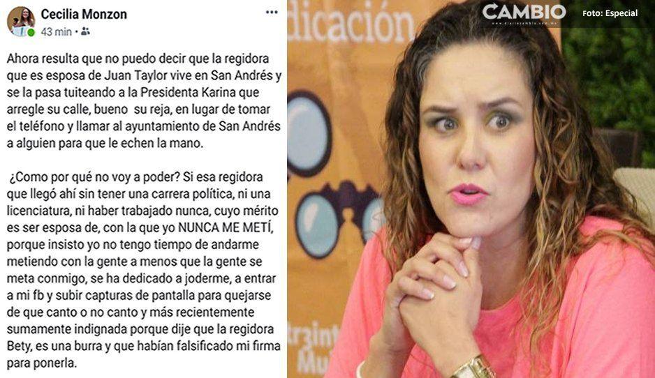 Cecilia Monzón denuncia presiones de regidoras de oposición y cercanas a JJ, para obligarla a renunciar