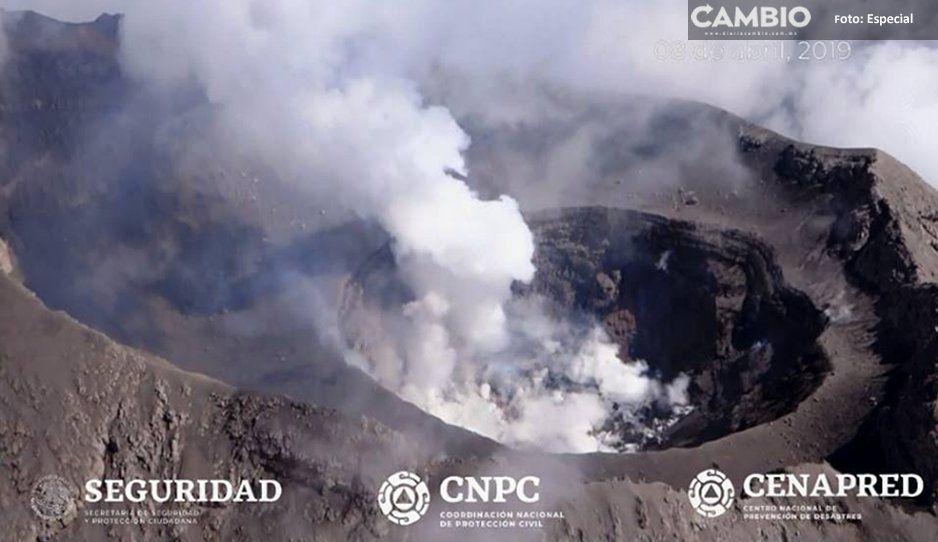 Así se ve el Popocatépetl desde las alturas en Amarillo Fase 3 (VIDEO Y FOTOS)