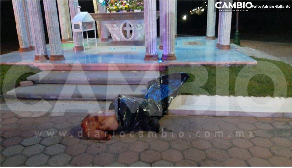 Hallan cuerpo desmembrado frente a la capilla Las Animas en Yehualtepec