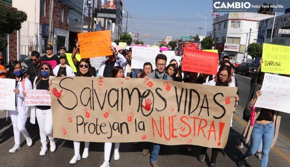 Miles de estudiantes BUAP paralizan Puebla para exigir justicia por masacrados en Huejotzingo