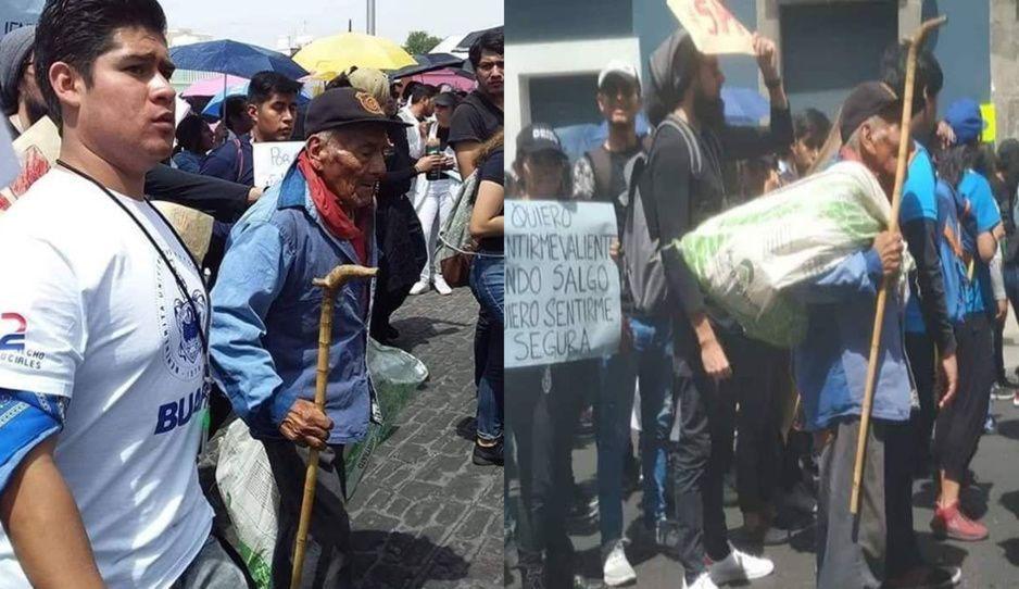 Don Felipe, el estudiante de 83 años que también pidió más seguridad para los universitarios