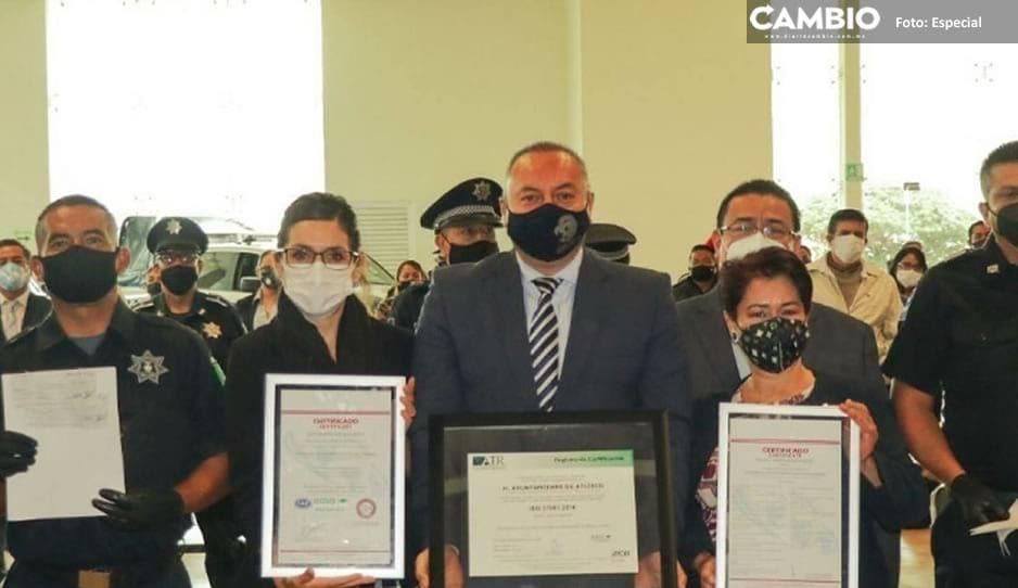 Recibe Gobierno de Atlixco certificaciones ISO 9001 y 37001: que lo avalan como Gestión de Calidad y Gestión Antisoborno