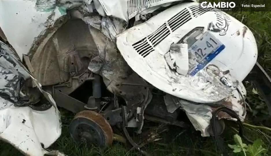 Terrible choque en Periférico Ecológico deja dos heridos