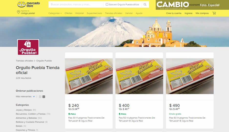 Más de 220 productos de Orgullo Puebla se ofertarán en Mercado Libre