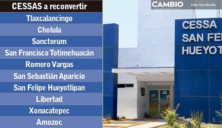 Serán 10 CESSA convertidos a  Hospitales COVID, anunció MBH