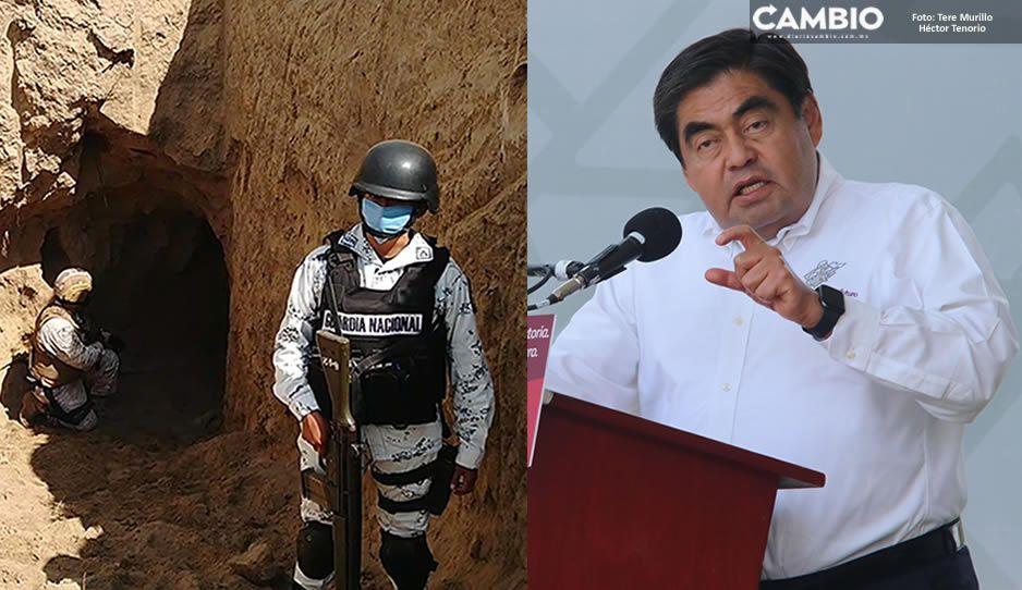 Asegura Barbosa que investigarán huachitúnel de Texmelucan para confirmar si era de El Loco Téllez