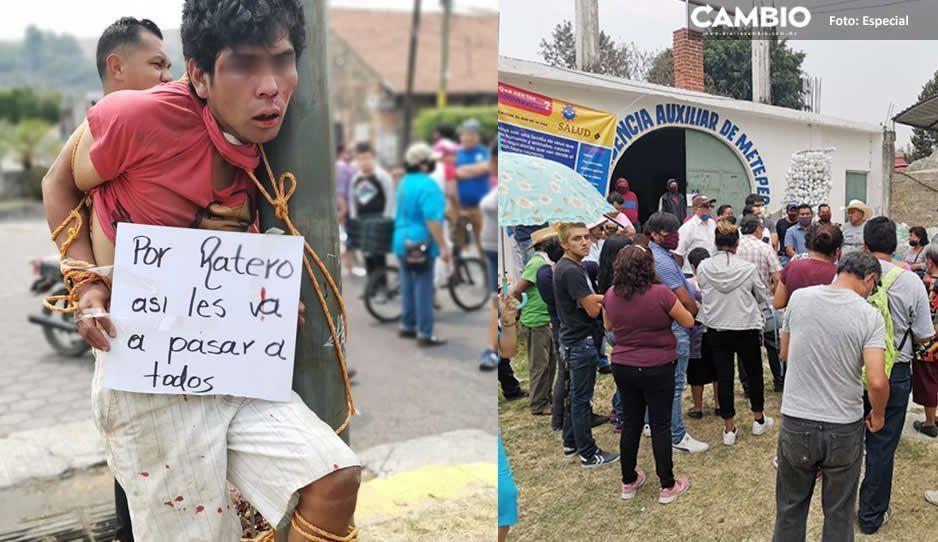 VIDEO: Golpean y exhiben a El Cabeca, violador malnacido de Atlixco
