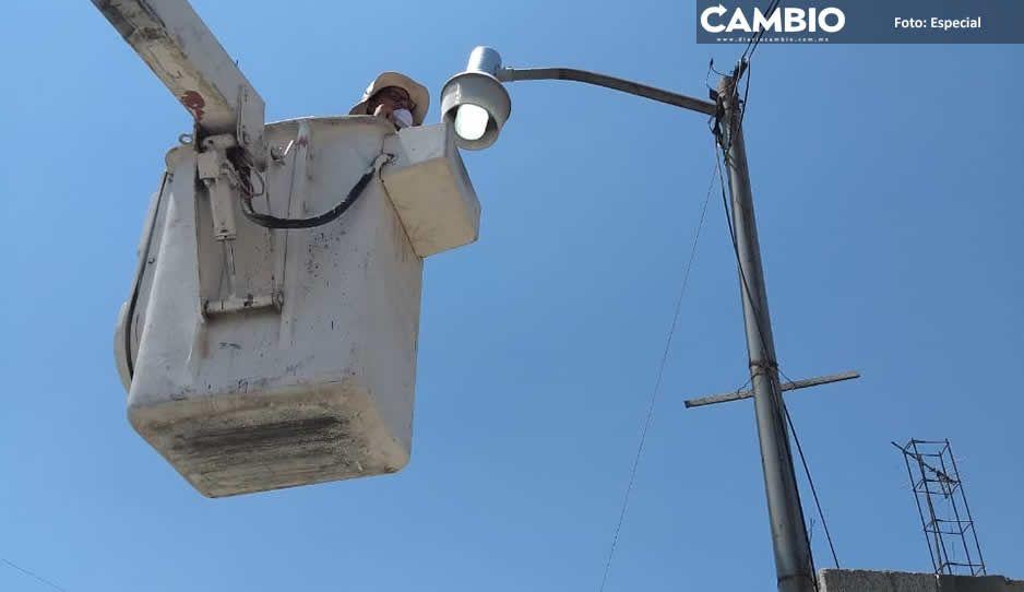 Garantiza Amozoc servicio de alumbrado  público a los ciudadanos del municipio