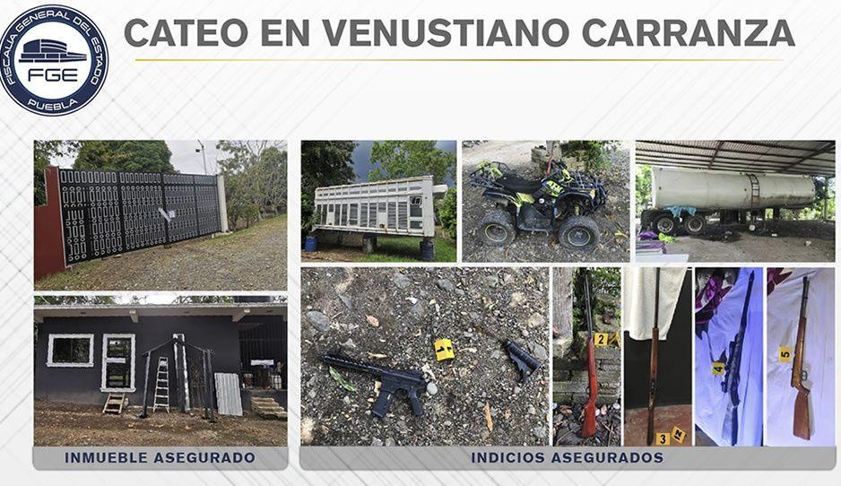 Decomisan armas y vehiculos durante cateo en Venustiano Carranza