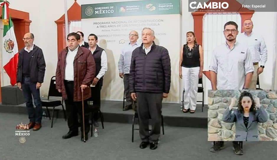 Recibe Guillermo Velázquez a presidente  Andrés Manuel López Obrador en Atlixco