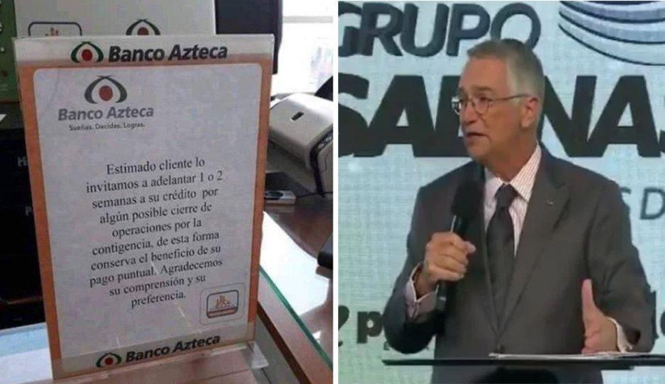 Salinas Pliego dijo que íbamos a morir de hambre pero Banco Azteca pide adelantar pagos de préstamos