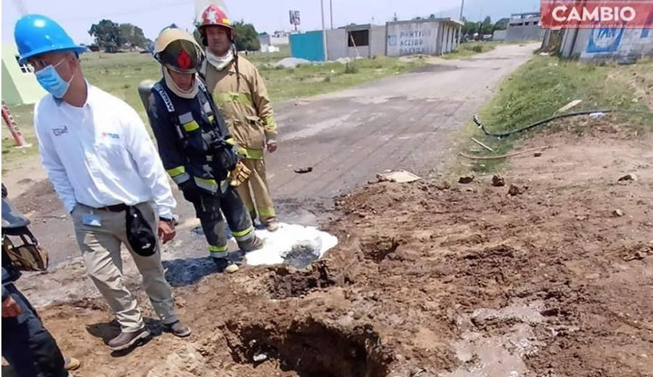Luego de 6 horas, controlan fuga huachigasera en Amozoc