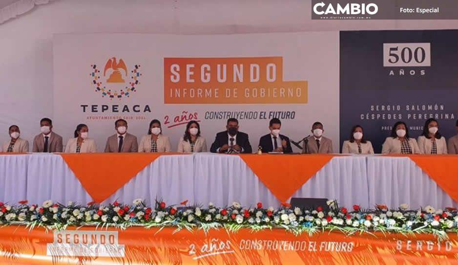 Sergio Céspedes rinde su Segundo Informe y destaca logros en Tepeaca