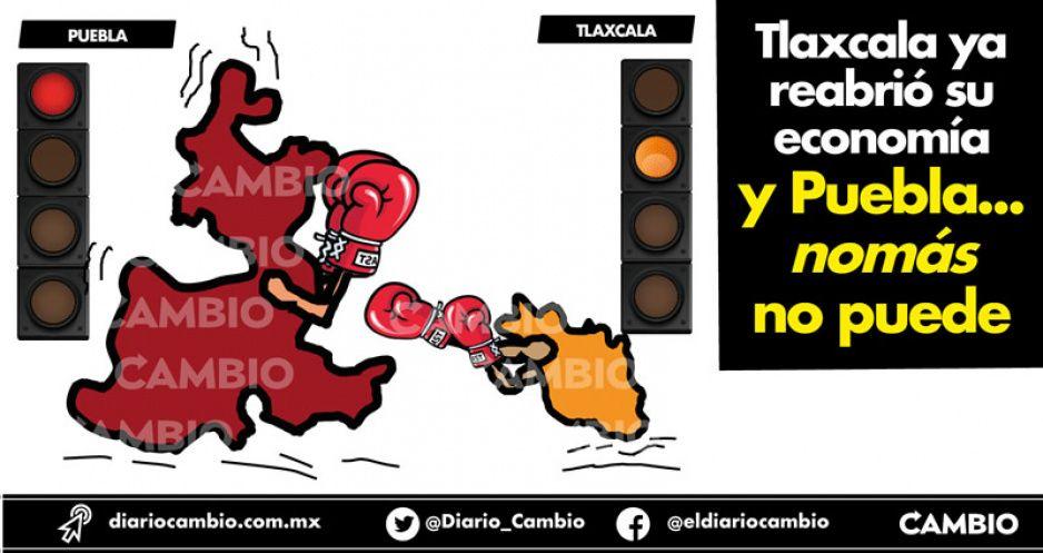 Tlaxcala ya reabrió su economía  y Puebla... nomás no puede