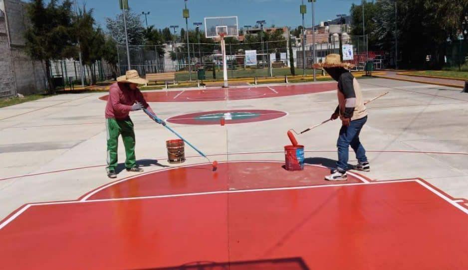 Texmelucan trabaja en la rehabilitación de instalaciones deportivas