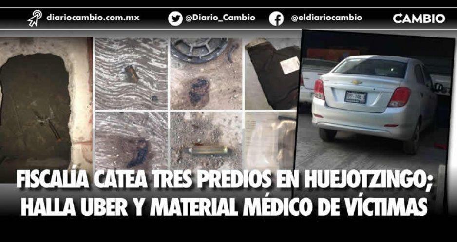 La FGE catea inmuebles en Xalmimilulco; hallan auto Uber y pertenencias de estudiantes (VIDEO)