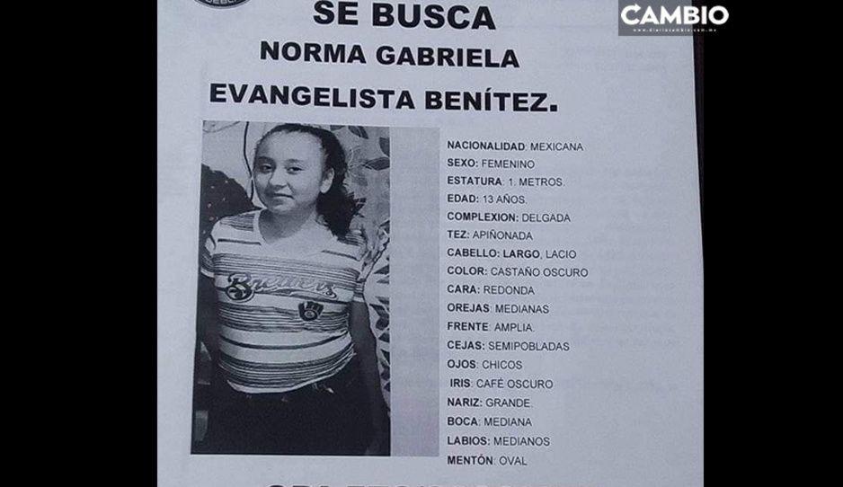 Desaparece Norma Evangelista de 13 años en Loma Bella ¡Ayuda a localizarla!