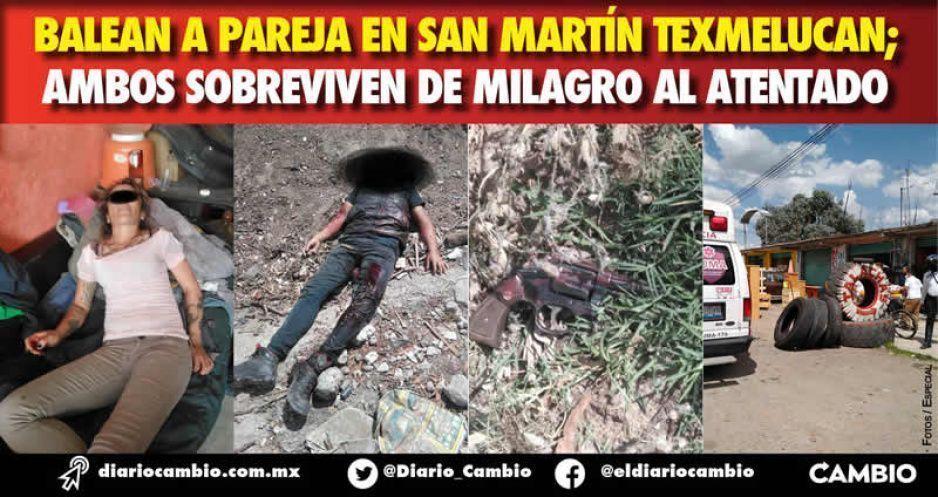 Balean a pareja en San Martín Texmelucan; ambos sobreviven de milagro al atentado