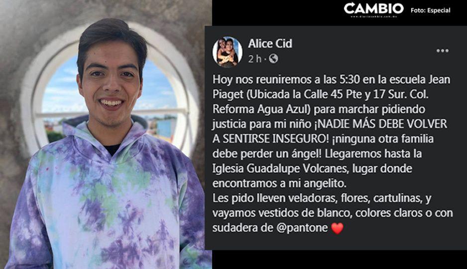 Amigos y familiares marcharán este día para exigir justicia por el asesinato de Aldo Cid ¡Únete!
