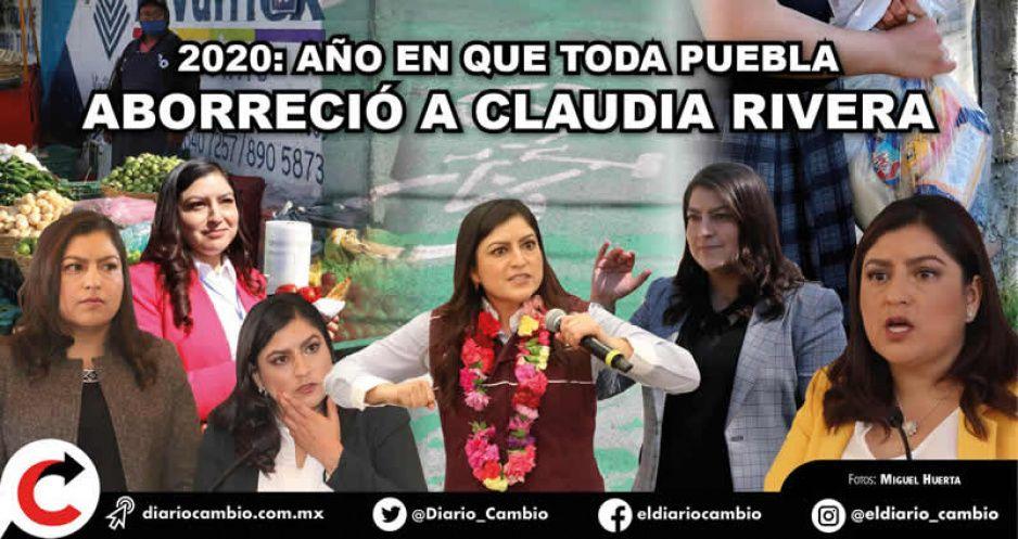 2020: año en que toda Puebla aborreció a Claudia Rivera