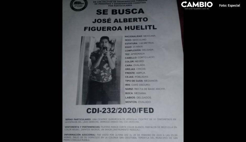 Ayúdanos a localizar a  José Alberto Figueroa Huelitl
