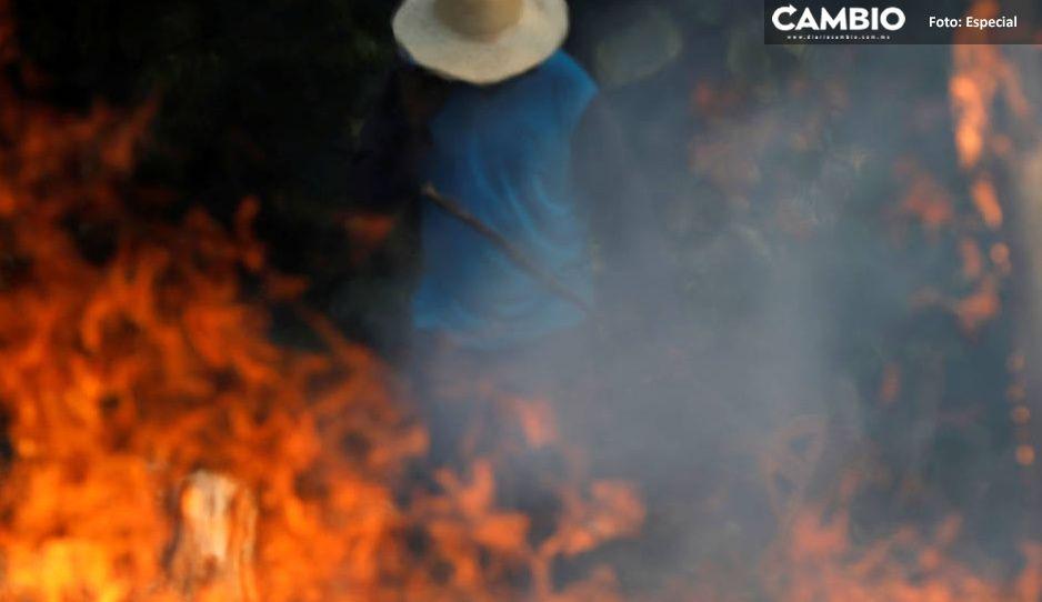 Muere abuelito calcinado en su vivienda en Cañada Morelos (FOTOS DE IMPACTO)