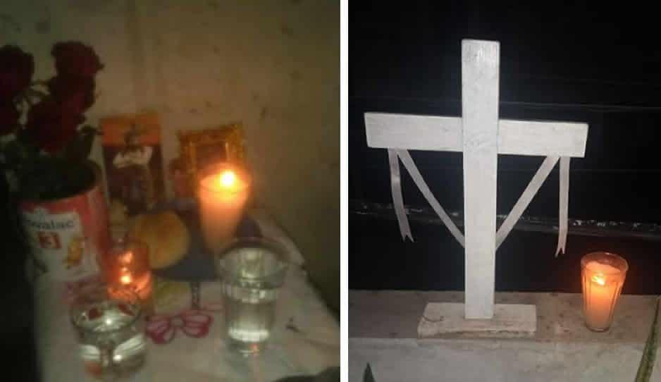 Colocan veladoras en memoria de los difuntos por Covid en Xalmimilulco