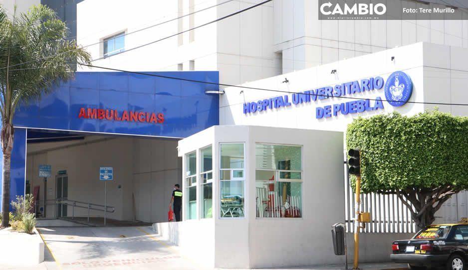 Hospital Universitario sigue atendiendo a pacientes con Covid: fallece un poblano de 83 años