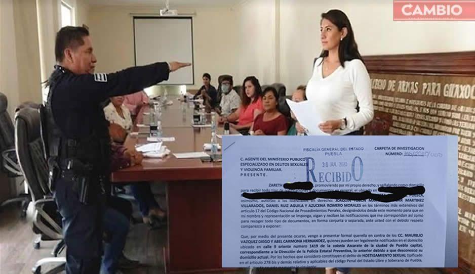 Alcaldesa de Huejotzingo solapa acoso sexual de secretario de Seguridad Pública