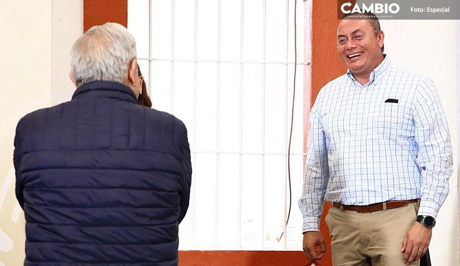Recibe Guillermo Velázquez a AMLO para revisar avances del Plan Nacional de Reconstrucción