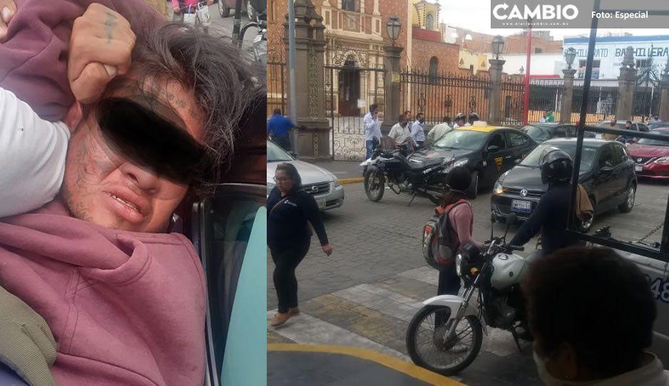 Policías de Texmelucan rescatan a taxista secuestrado; detienen a un presunto culpable (VIDEO)