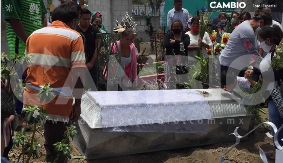 Entre lágrimas y dolor, madre exige justicia en el sepelio de su hija Guillermina